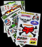 6 BLATT AUFKLEBER VINYL BMhi MOTOCROSS STICKERS BMX BIKE PRE CUT STICKER BOMB PACK METAL ROCKSTAR ENERGY SCOOTER