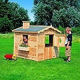 Promadino Spielhaus Villa SPATZENNEST 136x139x130cm Kinderhaus Kinderspielhaus Kiefer