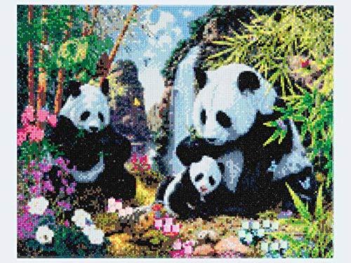 Crystal Art Panda Met Frame 40 X 50 Cm