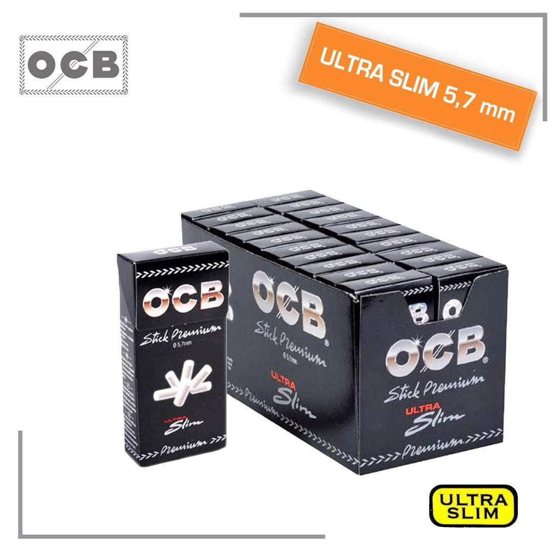 Box 20 Scatoline da 120 Filtri Ocb Ultraslim 5,7mm