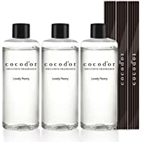 Cocod'or Ricarica Olio diffusore Reed 200ml Lovely Peony 3 Pezzi