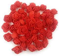 Satyam Kraft Foam Artificial Flower Roses (50 Piece, 3 cm)