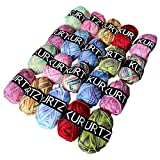 10 Piece Multicolour Knitting Crochet Yarn Set by Kurtzy - Assortment Colourful Acrylic Soft Yarn - Thick Yarn Multicolour Bundle for Knitting Jumpers, Cardigans, Clothes, Blankets and More