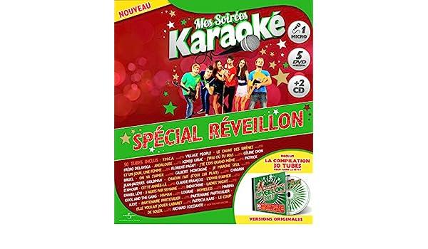 Coffret Karaoké Exclu Auchan 5 DVD + Micro + 2 CD : Spécial Réveillon: Amazon.fr: Abba, Avicii, Carly Rae Jepsen, Claude François, Collectif Métissé, ...