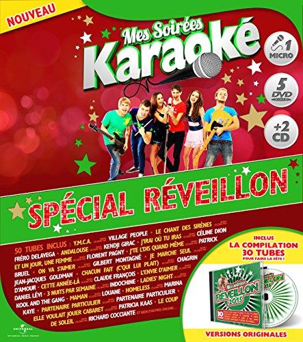 coffret-karaoke-exclu-auchan-5-dvd-micro-2-cd-special-reveillon-francia