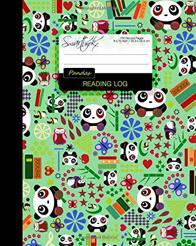 Reading Log: Gifts for Book Lovers (A reading journal with 100 spacious record pages and more in a large soft covered notebook from our Cartoon Pandas range) (Reading Logs & Journals)