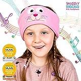 Snuggly Rascals (v.2) Kinder-Kopfhörer, Ultra-bequem, größenverstellbar und mit begrenzter Lautstärke (Baumwolle, Kätzchen)