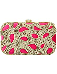 67b65ca8345e Tooba Handicraft Party Wear Hand Embroidered Box Clutch Bag Purse For Bridal