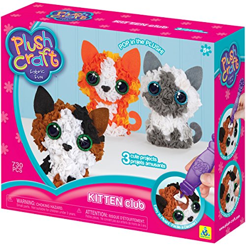 Orb Factory 621444 - Plush Craft Kitten Club 3D-Mini-Figuren, (Kit Pixel Elfen)
