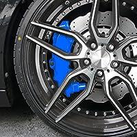 JOM 200002 Kit peinture d'étrier de frein, bleu, 1 composante, peinture d'étrier de frein 75ml, nettoyant de freins 250ml, brosse et gants