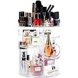 Organiseur de maquillage rotatif à 360, Lilebox Tiroir de maquillage réglable à 360 degrés, compatible avec bijoux