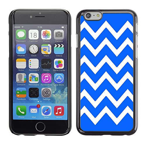 Graphic4You Chevron Muster Harte Hülle Case Tasche Schutzhülle für Apple iPhone 6 / 6S (Türkis) Königsblau