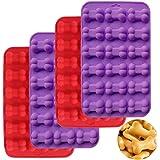 Silikon isformar - WENTS valp hund ben form brickor återanvändbar bakredskap för bakning choklad godis ugn mikrovågsugn frys