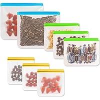 Insputer Sacs Legumes Reutilisable 8 Sacs Sandwich Ziplock Sac Réutilisable pour Voyages et Cuisine Sac a Pain de…