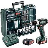 Metabo Akku Bohrschrauber BL 12 Set (mit Akku 2,0 Ah, 12 V, Akkuschrauber mit Koffer + Zubehör, inkl. Ladegerät, Bitdepot) 60