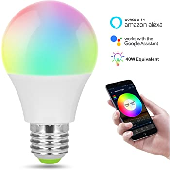 Bombilla LED inteligente, regulable y ajustable, compatible con Alexa y Google Assistant.
