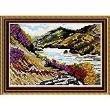 Brigantia Needlework – Kit de Tapisserie tableau au petit point façon tapisserie – T1946 Loch Lomond