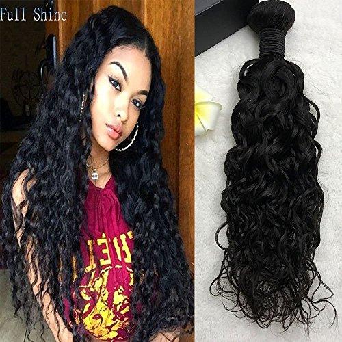 Full shine 18 pollice/45cm estensioni dei capelli umani ondulati cucire in weave estensioni brazilian remy natural wave 100g per pacco