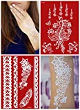 2 x Flash Tattoos WEISS Doppelset W301+335 für Arm Hand Finger Henna Fake Tattoo Einmal-Tattoos - LK Trend & Style
