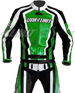 4limit Sports Motorrad Lederkombi Laguna Seca Zweiteiler Schwarz Grün Größe L Auto