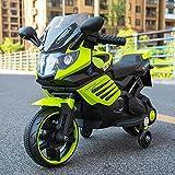 Electric Motorrad 3-5 Jahre alt Kinder Single Drive Auxiliary Wheel kann Menschen aufladen Toy Car Farbe: rot, Green, weiß Größe: L34 * W17 * H20 inch , yellow