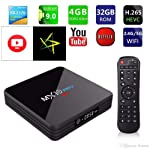 SreeTeK MX10 PRO 4GB/32GB Android 8.1 TV Box Supports JIO TV HotStar Apps Android TV Box 4K UHD 1080P USB 3.0 Smart TV Box