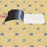 DMZH 10 STÜCKE Yellow Emulation Fliesen Aufkleber Dekorative Aufkleber Reise Aufkleber Kreative Rutschfeste Selbstklebende Wandtattoos Floor Sticker
