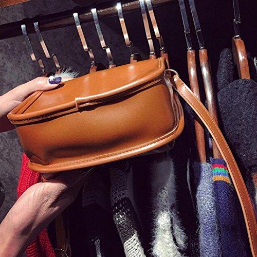 BZLine® Frauen Ledertasche Clutch Umhängetasche Unterarmtasche Klein Taschen, 19cm*19cm*8cm Braun