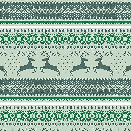 Apple iPhone 5 Case Skin Sticker aus Vinyl-Folie Aufkleber Rentiere Weihnachten Norwegermuster Grün DesignSkins® glänzend