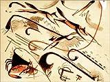 Posterlounge Forex-Platte 130 x 100 cm: Scherzo (Spielende Füchse) von Franz Marc/akg-Images