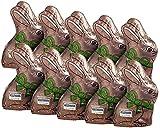 10er SET Stannioliertes braunes Häschen zu je 22 g Edelbitter Osterhase / Schokohase Ostern