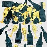 """Bunt glitzerndes Konfetti """" PROST NEUJAHR """" // Tüte mit 14g (ca. 160 einzelne Konfetti's) // Deko Tischdeko Silvester Metallkonfetti Streukonfetti Geburtstag Birthday Herzlichen Glückwunsch 2017 2018 Sekt Sektflaschen"""