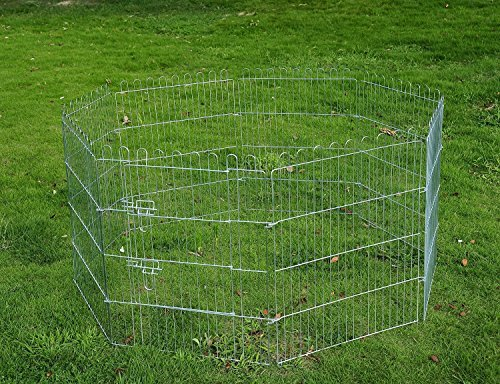 pawhut-recinto-per-cani-gatti-cuccioli-roditori-recinzione-rete-gabbia-8-pezzi-76-x-63-cm