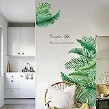 decalmile Pegatinas de Pared Planta Tropicales Vinilos Decorativos Hojas Verde Grandes Adhesivos Pared Sala Habitación Dormit