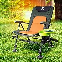 TSJT Silla de pesca de camping, plegable portátil de verano de muebles de aleación de aluminio brazo de ocio silla , 2