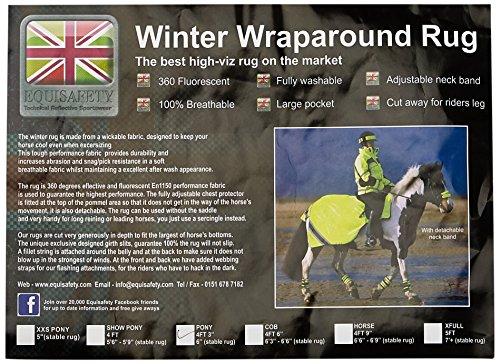 Equisafety Polite Winter Fluoreszierend Training Teppich Sehr Gut Sichtbares Gelb