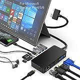 Surface Pro dock 4/5/6 USB Hub con puerto Gigabit Ethernet, 4K HDMI DP Display Puerto VGA, 3xUSB 3.0 Puertos, Puerto de salid