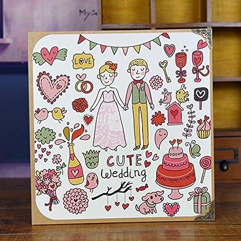Autoadesivo diy album fotografico per foto di famiglia album Baby paio capacità creativa Handmade Album Yearbook - Album Handmade Wedding Photo