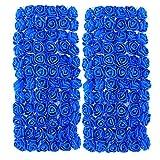 UEB 144pcs Teste di Rose in Schiuma Mini Rose Finte per Decorazioni Bouquet Fiori Artificiali Decorazione per Matrimonio Festa Auto Casa DIY Ghirlanda di Fiori da Sposa (Blu)