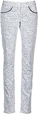 Kookaï FEMIE Pantaloni Femmes Beige/Nero Pantaloni 5 Tasche