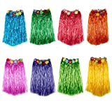 Best Adult Halloween Costumes - 8 piece SET Hula Grass Skirt 60 cms Review