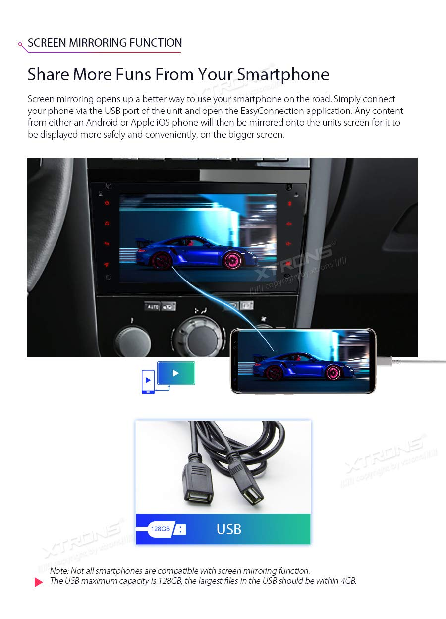 XTRONS-7-Android-Autoradio-mit-Touchscreen-Multimedia-Player-Android-81-Octa-Core-Autostereo-unterstzt-4K-Video-WiFi-4G-Bluetooth50-2GB-RAM-16GB-ROM-DAB-OBD2-FR-OPELVauxhallHolden