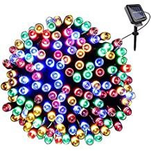 Link-homie Solar Powered Fairy String Lights 72ft 22m 200 LED Outdoor Waterproof Decorative Lights 8 Lighting Modes for Easter, Garden, Home, Wedding, Party, Christmas, Halloween ( Multi-color)