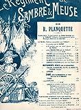 Le régiment de sambre et meuse pour piano et chant de Planquette
