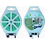 Garden King 50m Plastic Twist Tie Heavy Duty Wire Spool with Blade Cutter for Garden Yard Nursery Plants (Green) (1)