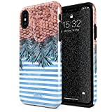 Glitbit iPhone XS Max Hülle Tropical Pineapple Ananas Summer Fruit Sommer Robustes Stoßfestes Doppellagiges Hardcase + Silikon Handyhülle Case Cover