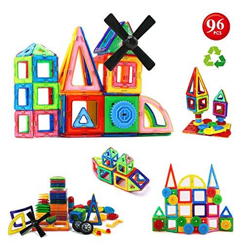 96pcs Magnetic Building Blocks Set: Building Construction Toys For Kids