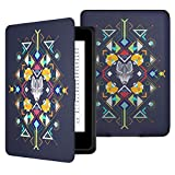 MoKo Kindle Paperwhite Hülle - Ultra Leightweight Schutzhülle Smart Cover mit Auto Sleep/Wake Funktion für Alle Kindle Paperwhite (2016/2015 / 2013/2012 Modelle mit 6 Zoll Display), Wolf Totem