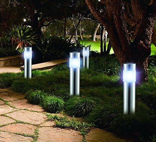 LED Lover VLT.LL.0103.001.XX Gartenlicht-Set San Diego, silber, 26x 7x 28cm