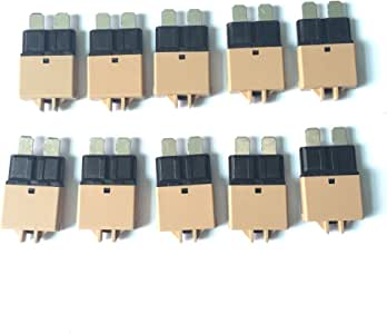 H HILABEE 7Pack Manual Reset ATM Circuit Breakers Resettable Mini Blade Fuses 28V Low Profile for Car Truck Auto Marine 5A 7.5A 10A 15A 20A 25A 30A
